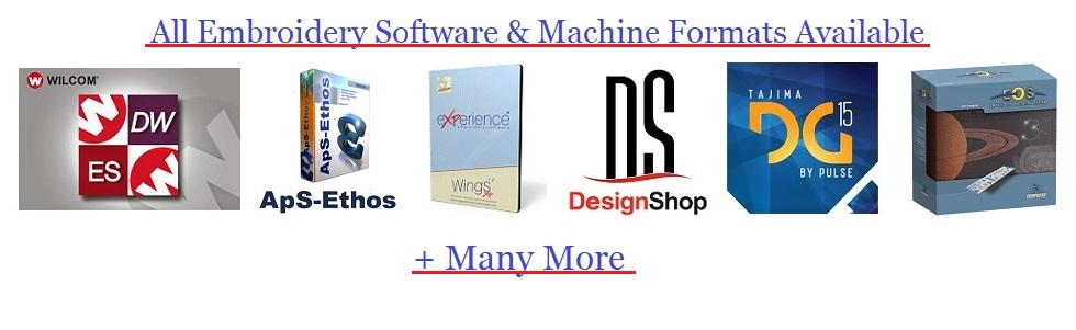 High Quality Embroidery Digitizing For Corporate Logos On Time Delivery
